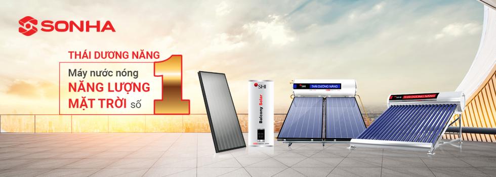 Sản phẩm máy nước nóng năng lượng mặt trời Thái Dương Năng Sơn Hà