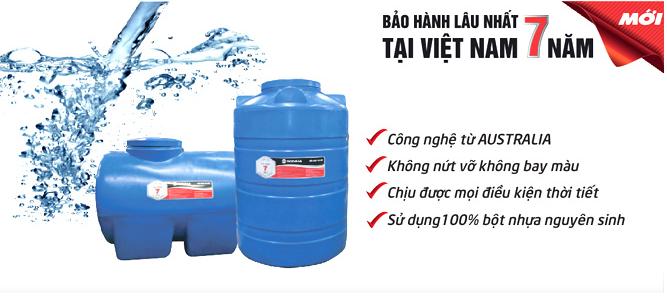 bồn nhựa sơn hà bảo hành lâu nhất Việt Nam