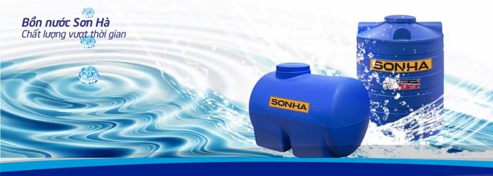 Bồn nước nhựa Sơn Hà - thách thức mọi nguồn nước