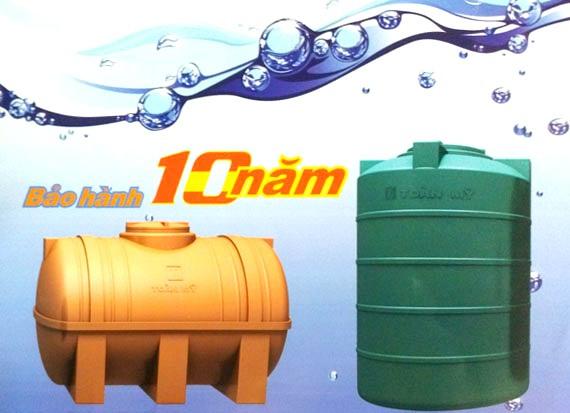 Bồn nước nhựa Toàn Mỹ chính hãng bảo hành lên tới 10 năm